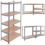 Assembly Adjustable Epoxy Metal Furniture Wire Shelving for Home