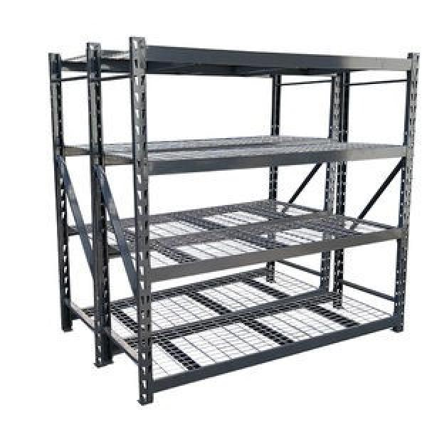 6 Tier Adjustable Metal Wire Shelving Units Convenience Stores Black Wire Rack #1 image