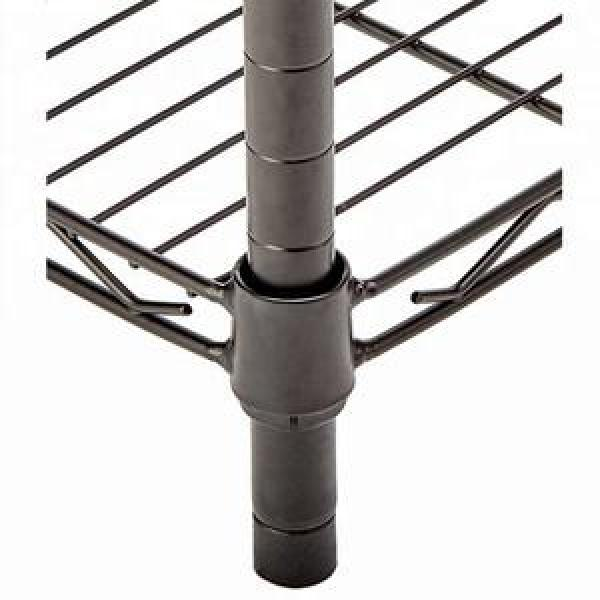 6 Tier Adjustable Metal Wire Shelving Units Convenience Stores Black Wire Rack #2 image