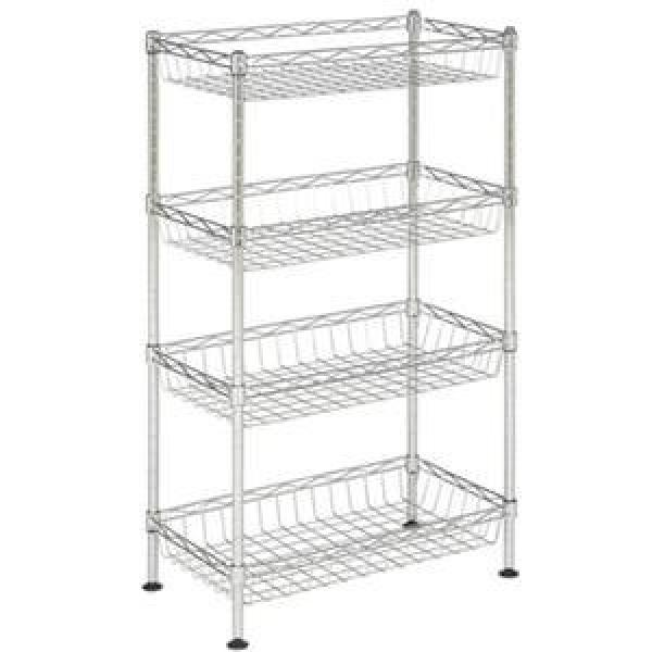 6 Tier Adjustable Metal Wire Shelving Units Convenience Stores Black Wire Rack #3 image